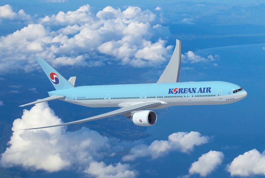 Gelati d'oro on the first class menu on Korean Air