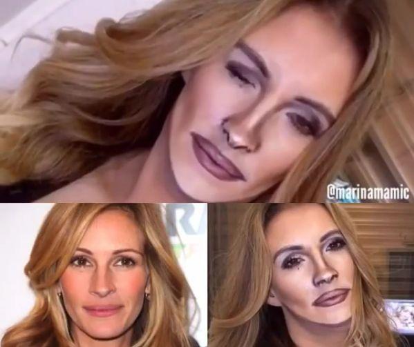 Marina Mamić transforms into Julia Roberts (Instagram)