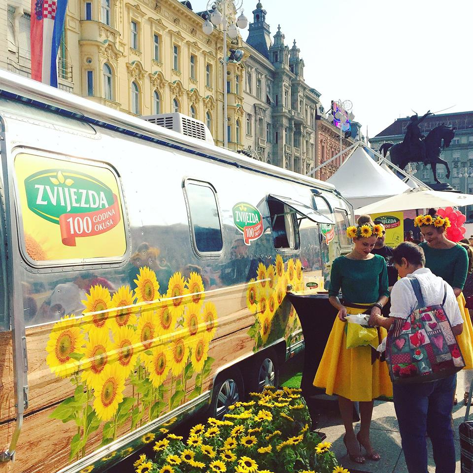 Celebrations on the main square in Zagreb
