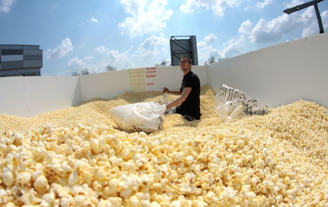 Largest popcorn box in Osijek