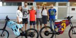 [PHOTOS] Messi, Piqué & Fàbregas Get Personalised Croatian Electric Bikes