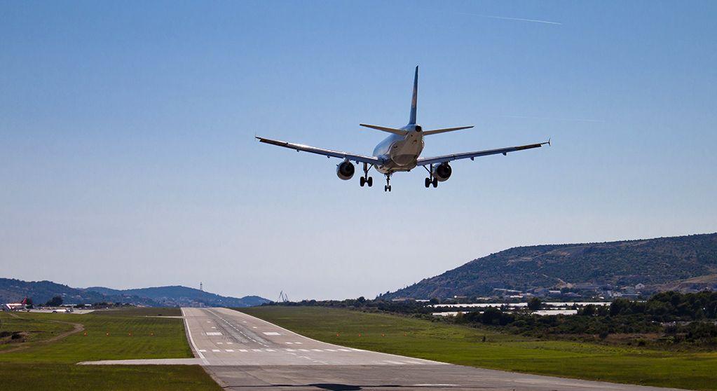 A plane landing at Split Airport (photo credit: Ballota under CC)