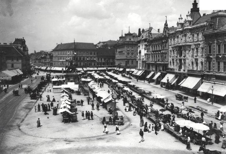 The old markets at Ban Jelačić Square (photo credit: trznice-zg.hr)