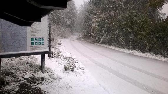 First snowfall of the season (photo credit: Ivica Krmpotić/Nacionalni park Sjeverni Velebit Facebook)