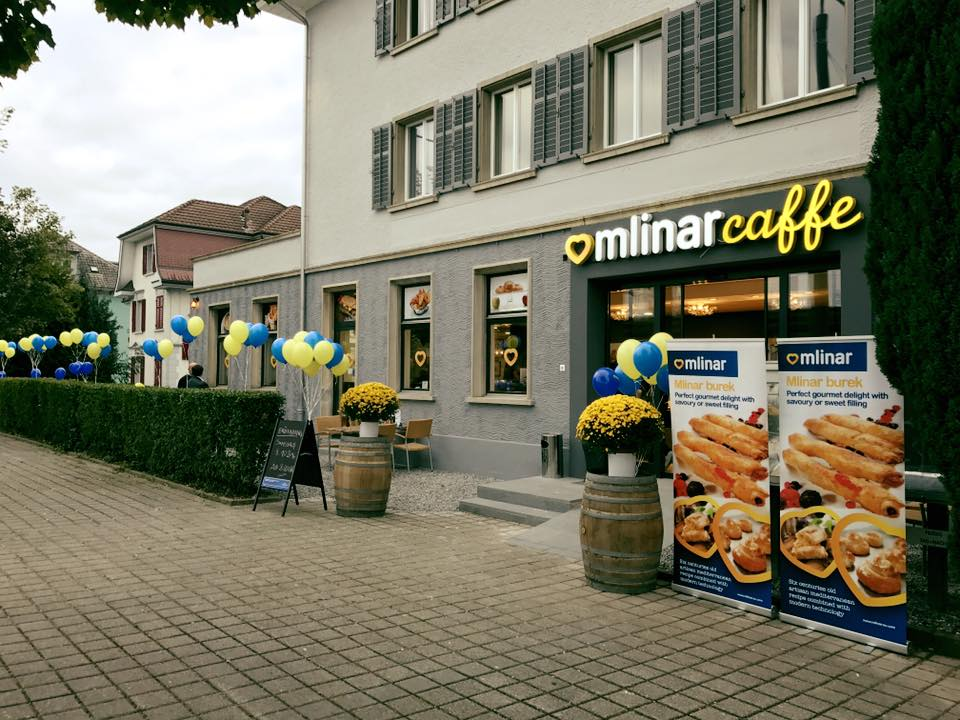Mlinar caffe in Switzerland (photo credit: Facebook)