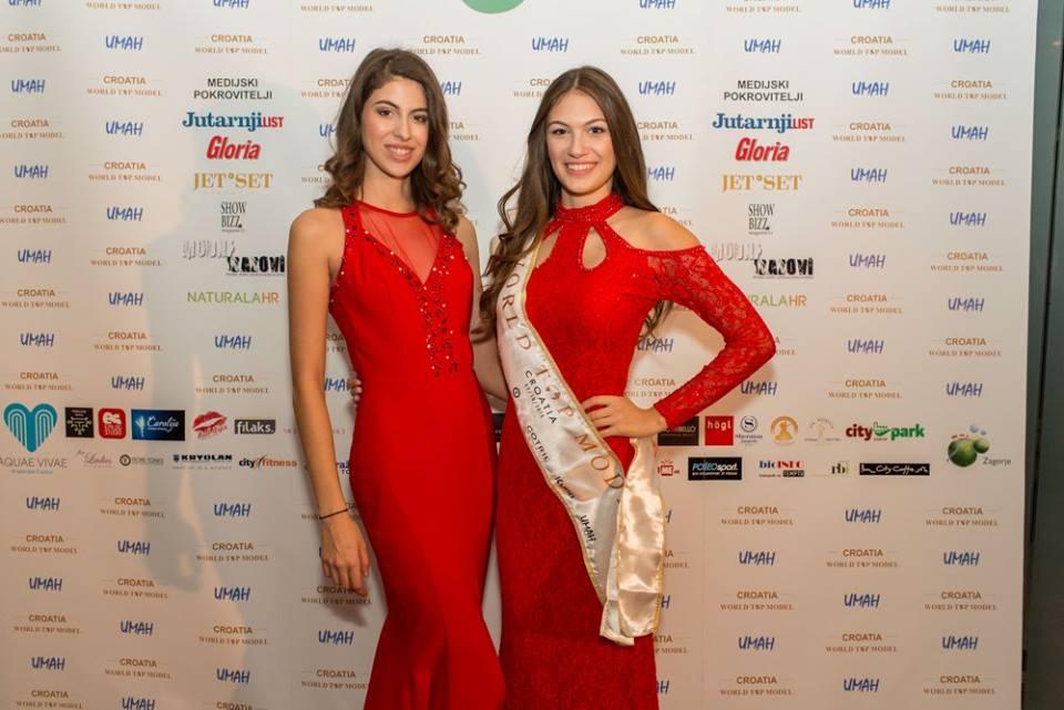 Lara Spajić (with sash) will head to Miami to represent Croatia (photo credit: World Top Model Croatia)