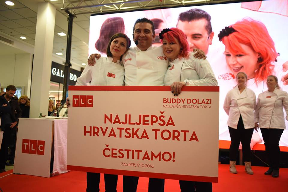 The Cake Boss with the winners (photo credit: City Centre one Zagreb)