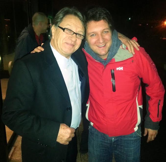 "Damián with former Croatia football coach Miroslav ""Ćiro"" Blažević"