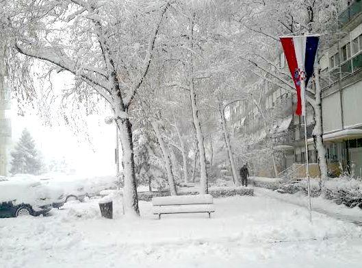 Snow in Zagreb