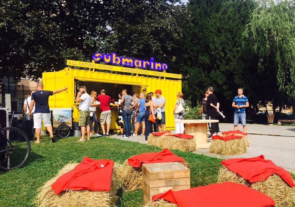 Submarine stand at the festival (photo credit: Zagreb Burger Festival)
