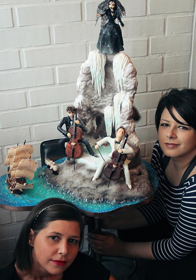 Lorita and Andrea's cake which got them to the finals (photo: TLC Hrvatska)