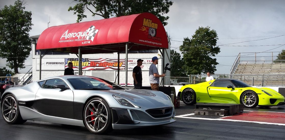 Concept_One and the Porsche 918 line up (photo: Rimac)