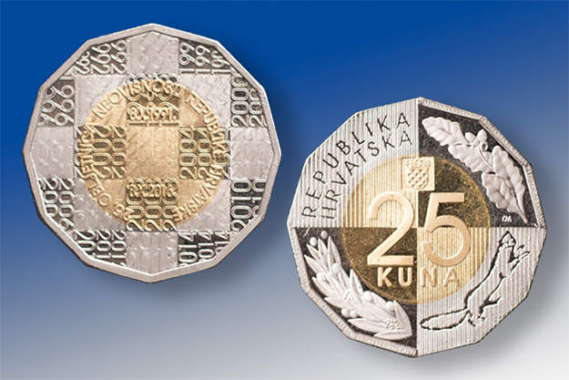 [PHOTO] New Coin Issued to Mark 25th Anniversary of Croatian Independence