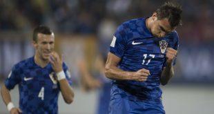 Mario Mandžukić scored his 4th goal in 3 days (photo credit: HNS)