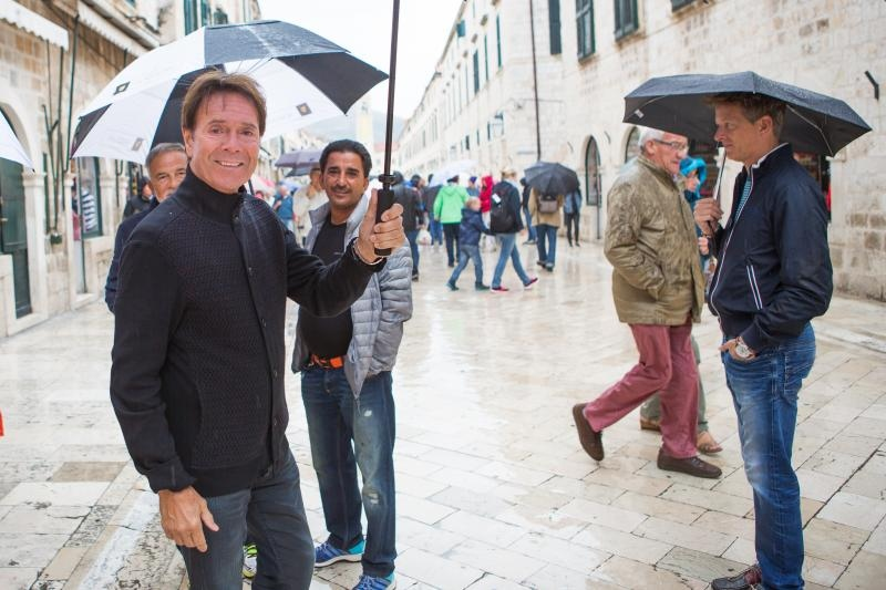 Musician Sir Cliff Richard in Dubrovnik (photo credit: Grgo Jelavic/PIXSELL)
