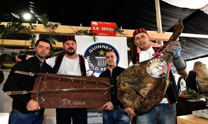 [PHOTO] Guinness World Record Pršut Presented in Istria