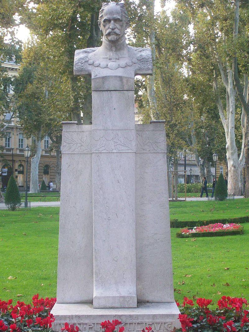 Statue of Ivan Kukuljević Sakcinski in Zagreb (photo credit: Suradnik13 under CC)