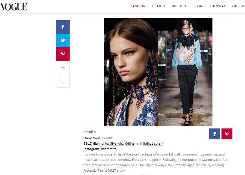 Faretta in Vogue (screenshot)