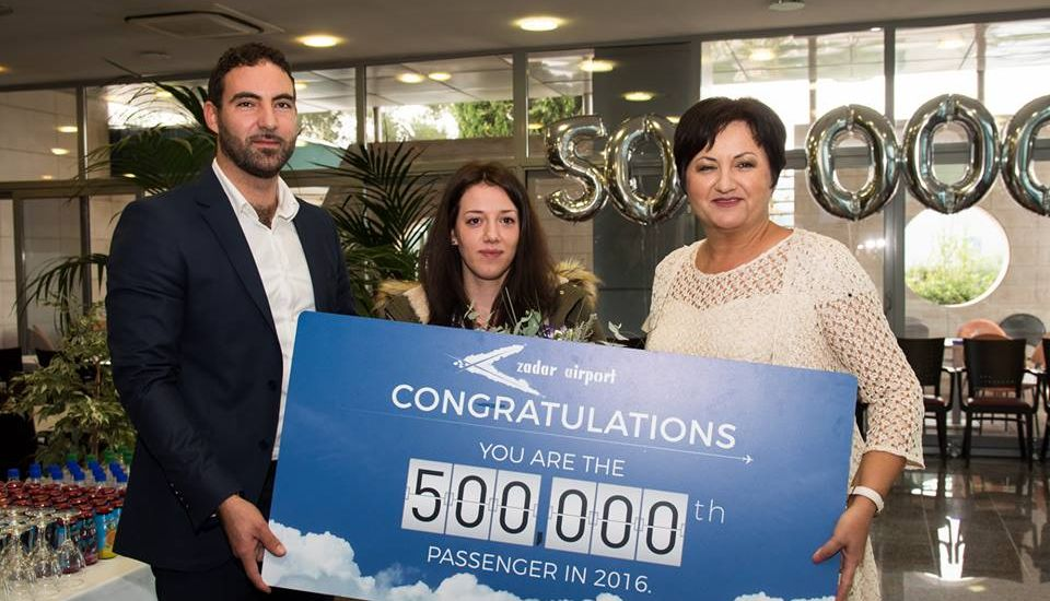 First Time in History Zadar Airport Welcomes 500,000th Passenger in a Year