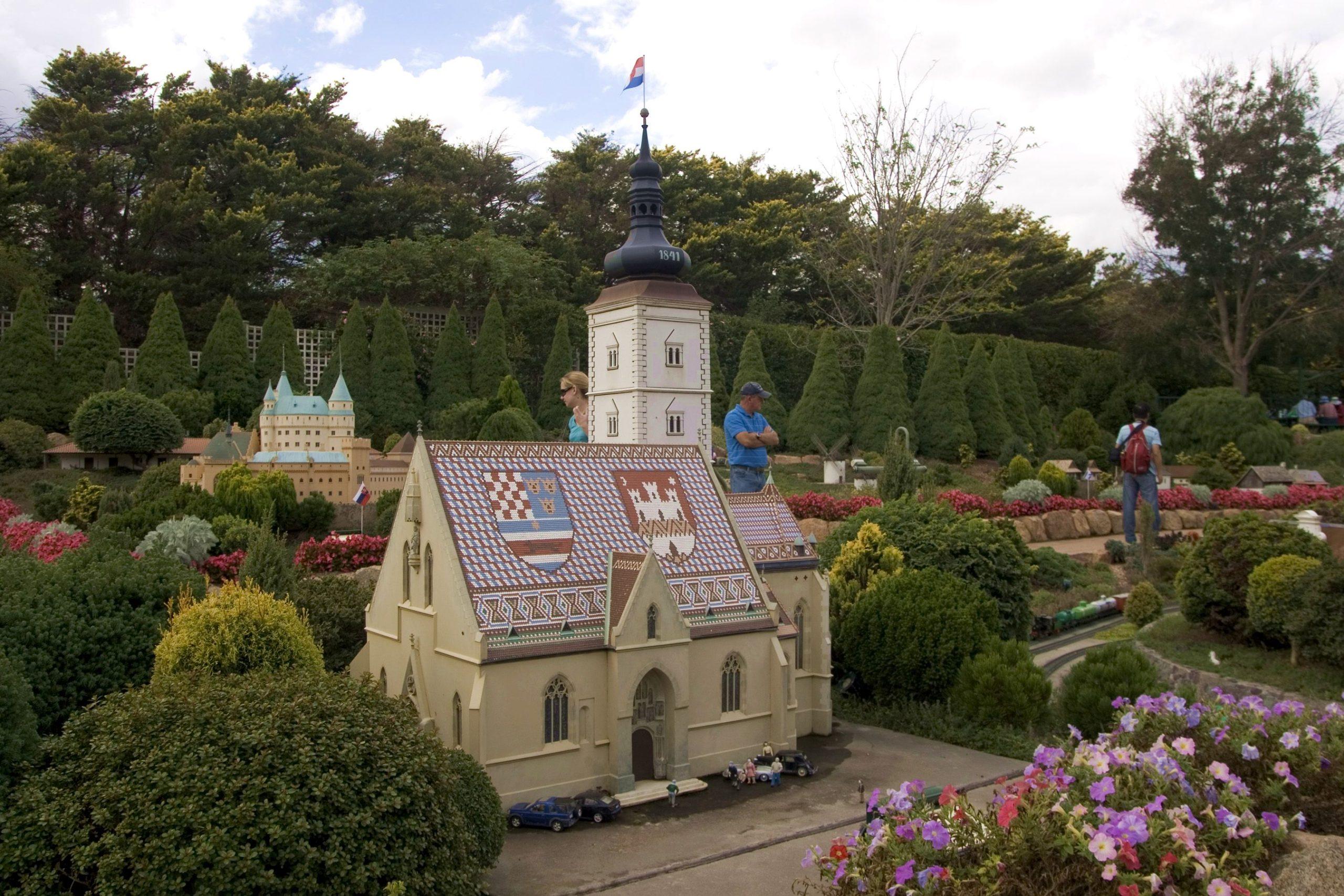 [PHOTO] Zagreb's Famous St. Mark's Church at Miniature Village in Australia