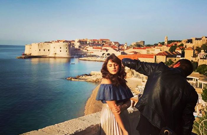 Famous Indian Actress Shoots Advert in Croatia