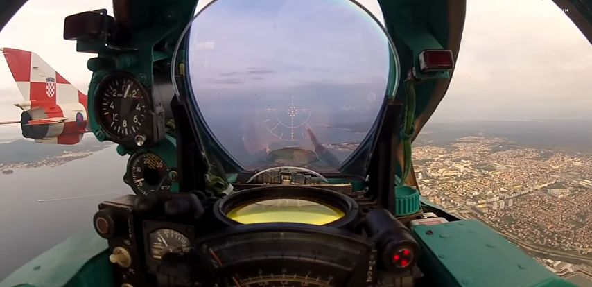 [VIDEO] Footage from Croatian MiG-21 Cockpit
