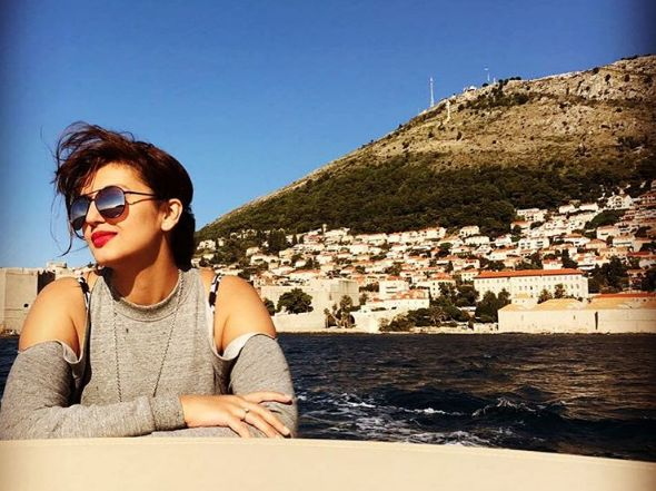 The model and actress was impressed with Dubrovnik (photo: Instagram)