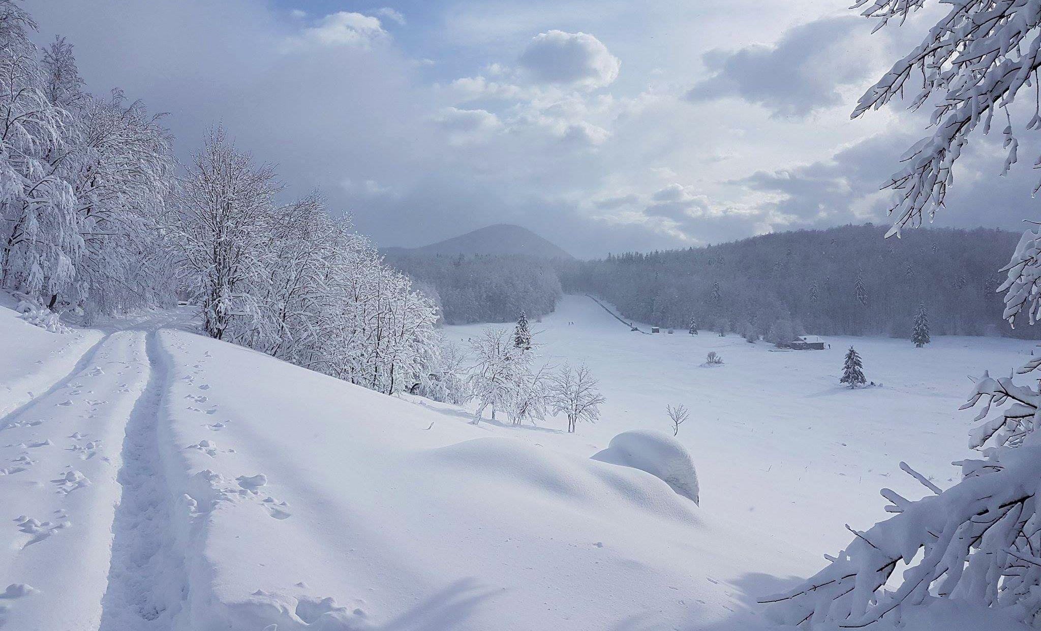 Over 50 cm fell on Platak (photo credit: Mauro Kesovija / Istramet)
