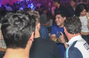 Maradona enjoying a night out in Dubrovnik (photo credit: Dino Avdić/CC Revelin)