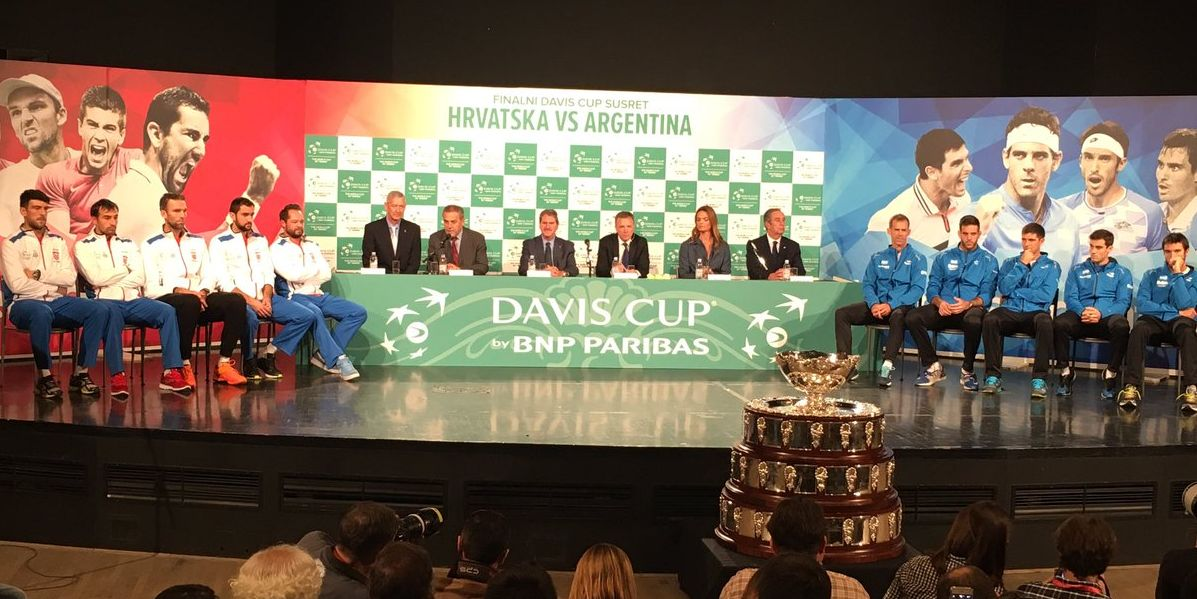 Draw was made in Zagreb on Thursday (photo credit: Davis Cup/Twitter)