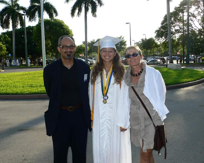 Helenna with her parents