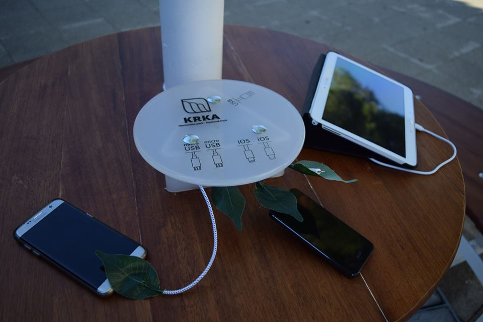 Solar trees will provide Wi-Fi and charging facilities (photo credit: NP Krka)