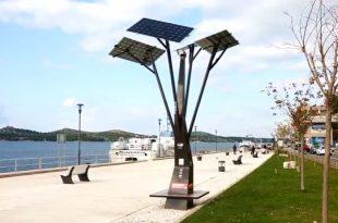 First Solar Tree goes into action in Šibenik on Monday (screenshot)