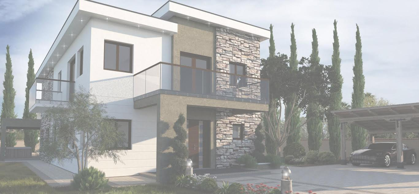 Planned villa front