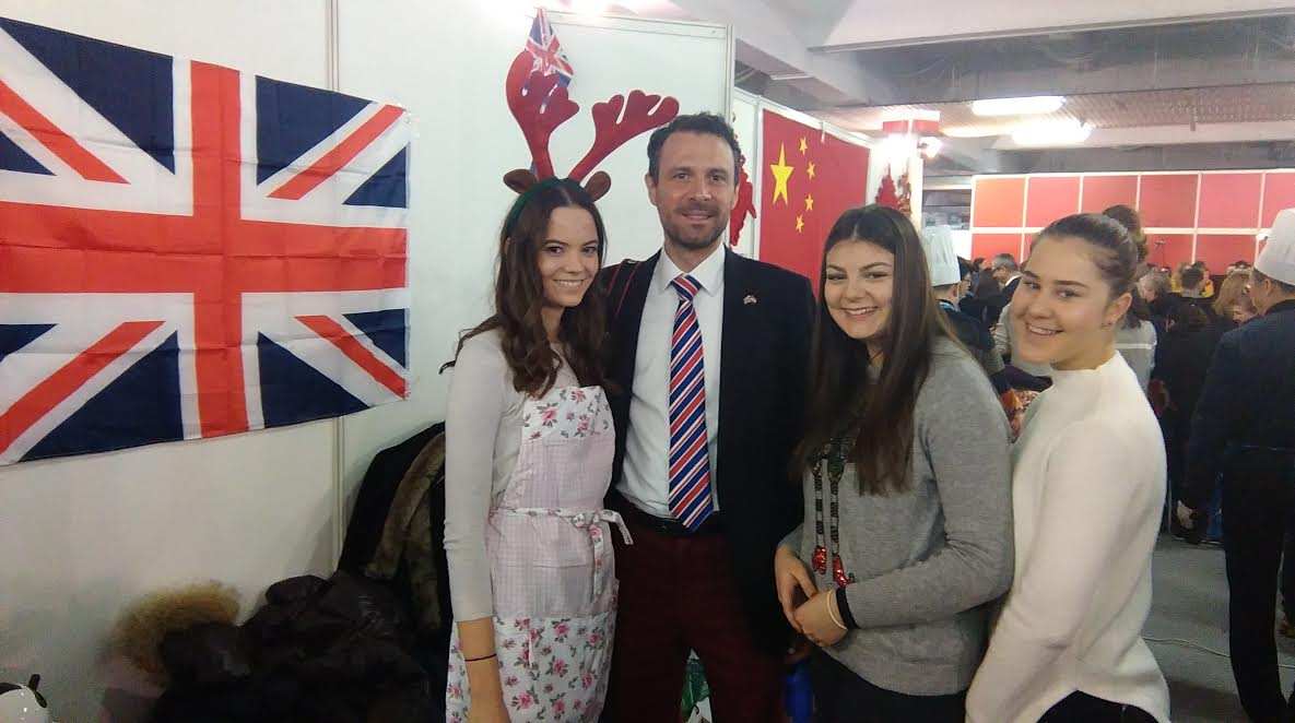 British Ambassador Andrew Dalgleish with some of the students from the British International School of Zagreb