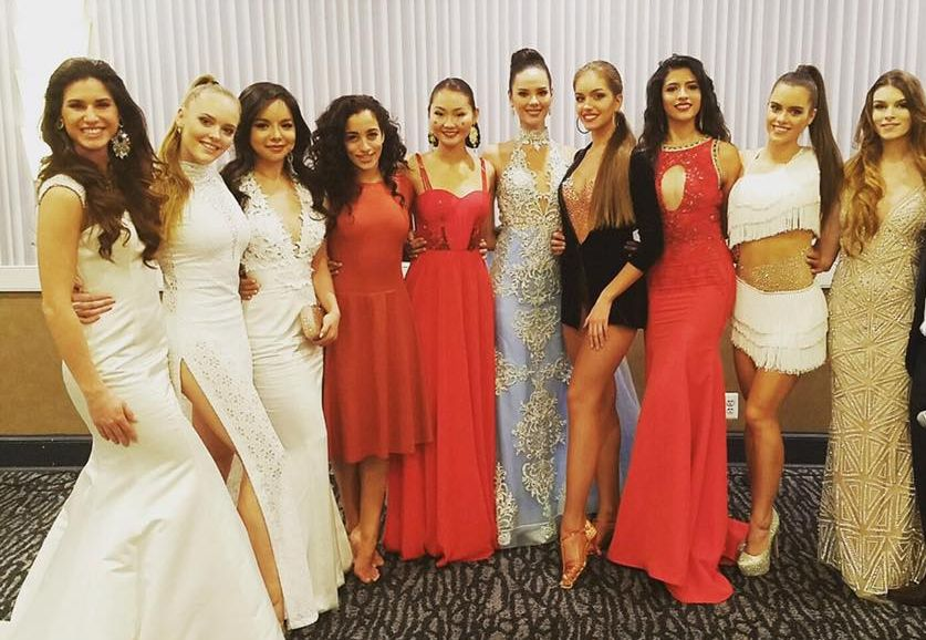 Miss Croatia (far left) with the TOP 10 finalists (photo credit: Miss World)