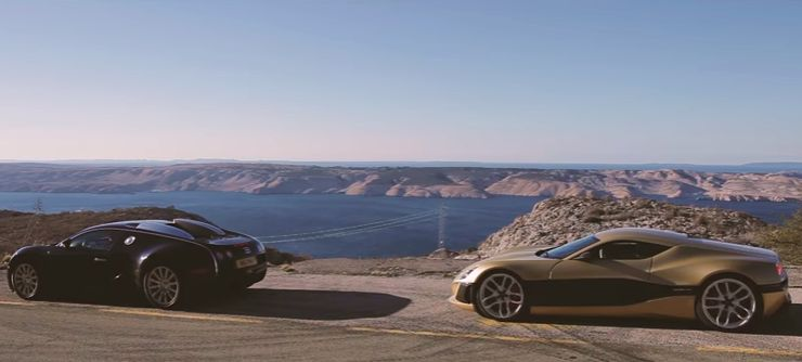 Rimac's Concept_One Takes on a Bugatti Veyron on the Croatian Coast