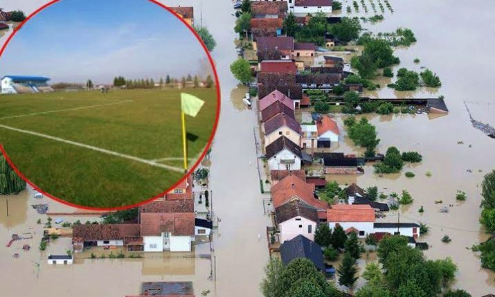 UEFA Visit Renovated Slavonian Stadiums Damaged in Catastrophic Floods