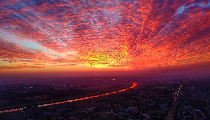 Photos Stunning Sunset Has Zagreb Locals Reaching For Their Cameras Croatia Week