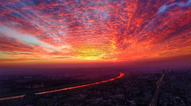 [PHOTOS] Stunning Sunset has Zagreb Locals Reaching for their Cameras