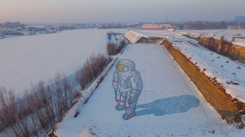 [PHOTO] Amazing 3D Street Art in the Snow in Croatia