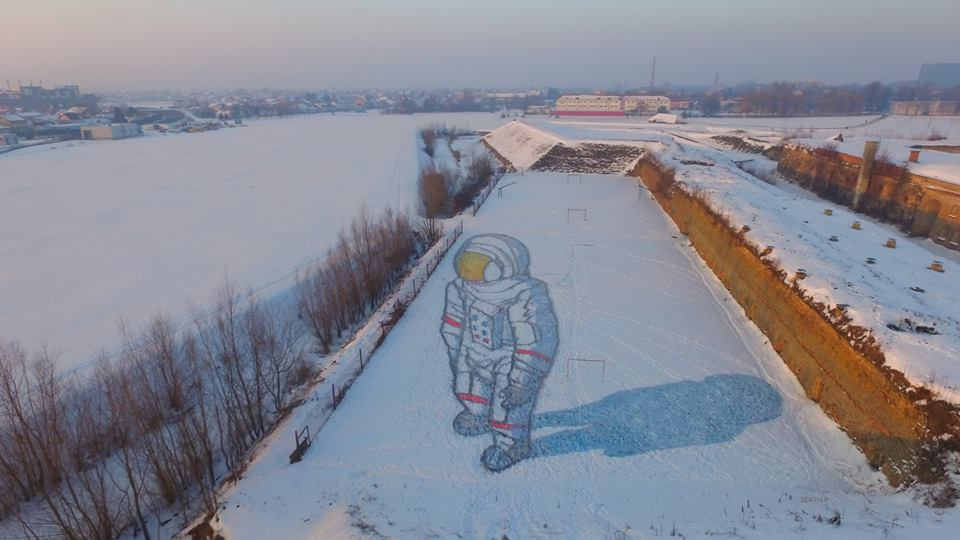 [PHOTO] Amazing 3D Street Art in the Snow in Croatia