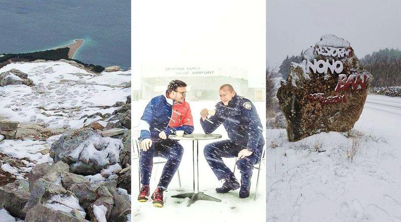[PHOTOS] Snow on the Croatian Island of Brač