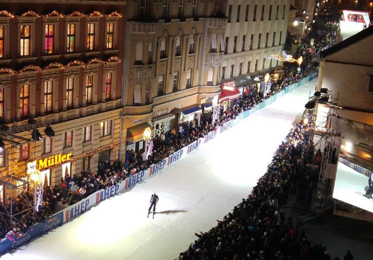 [VIDEO] First Downtown Zagreb Ski Race Takes Place