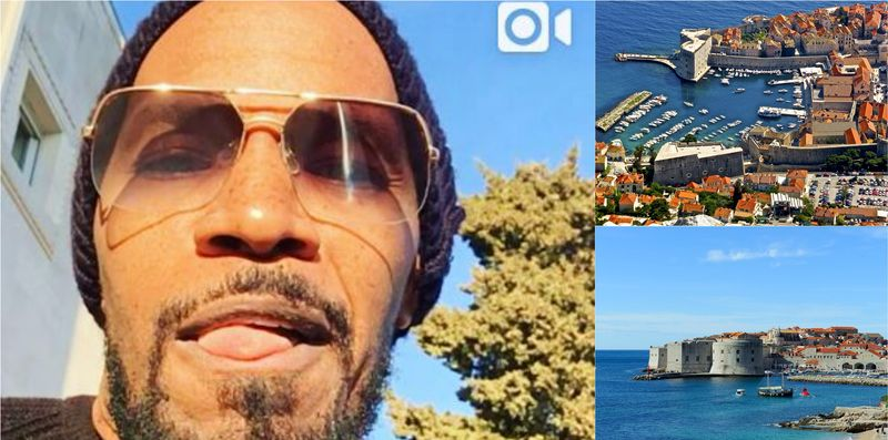 [VIDEO] Hollywood Star Jamie Foxx 'Mind-Blown' by Beauty of Dubrovnik