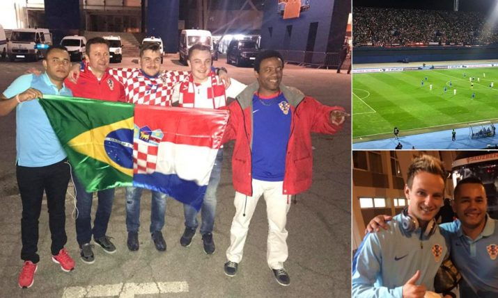 Croatia's No. 1 Fan From Brazil Emotional After Watching First Home Match in Zagreb