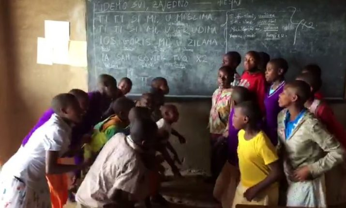 [VIDEO] African Orphans Learn Popular Croatian Song