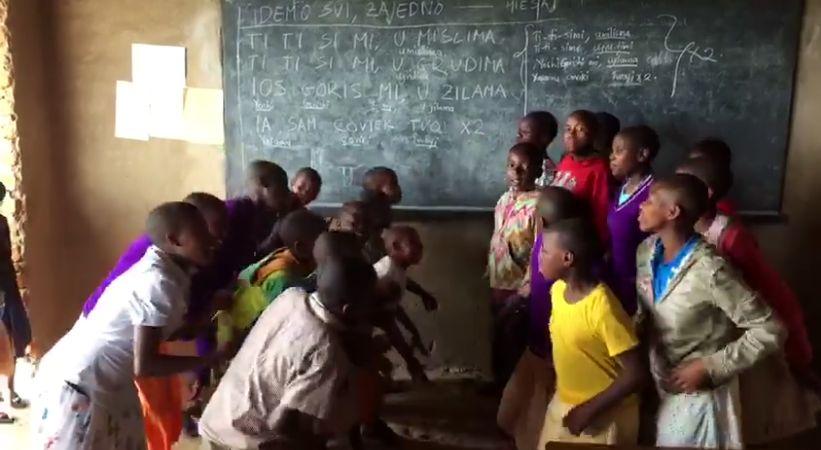 [VIDEO] African Orphans Learn Popular Croatian Song