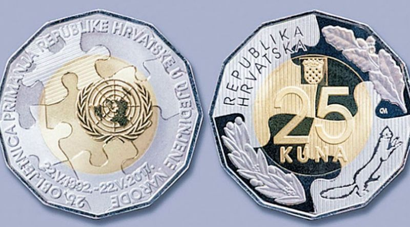 [PHOTO] New Coin Issued to Mark 25th Anniversary of Croatia Joining UN