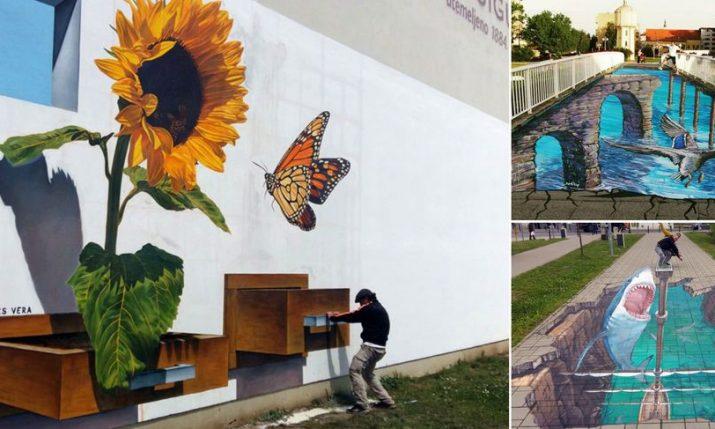 World's Top 3D Street Artists Create Attractions in Vukovar
